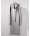 SISTERE | ELONGATED NECK LONG KNIT [WINTER CLOUD](ニット・セーター)