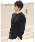 Cuore/Gusto | Cuore/Gusto  Graphic Long Sleeve T-Shirt / Black | cuoregusto https://gsfr3.app.goo.gl/EthoX @BASEec(Tシャツ・カットソー)