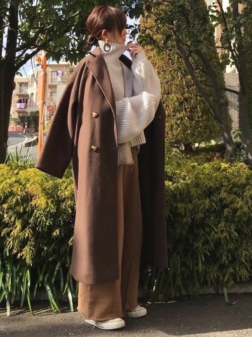 KRさんのチェスターコート「AUNT MARIE'S オーバーダブルチェスターコート(Aunt Marie's|アントマリーズ)」を使ったコーディネート