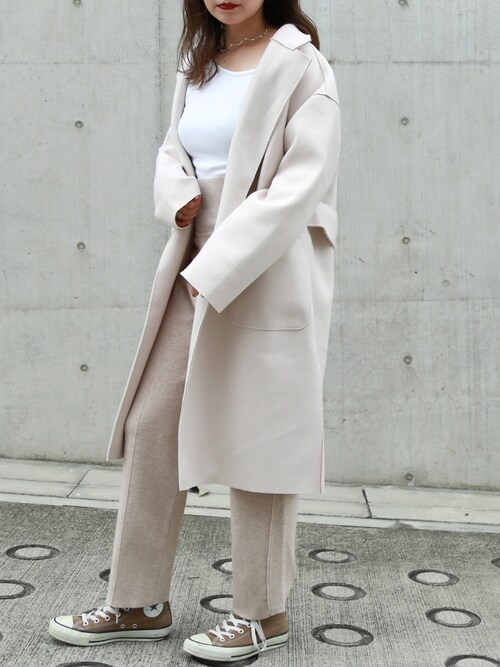 shino◡̈*❤︎さんの「BACK BELT CHESTER COAT(LAULEN)」を使ったコーディネート