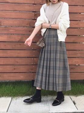 ukapiさんの「バスクテレコ ノースリーブTシャツ◆(SLOBE IENA|スローブイエナ)」を使ったコーディネート