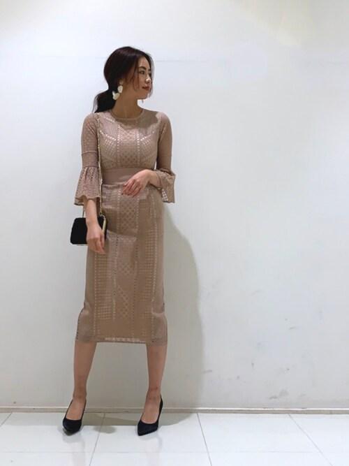 LAGUNAMOONLAGUNAMOON STAFFさんのドレス「LADYダイヤレースワンピース(LAGUNAMOON ラグナムーン)」を使ったコーディネート