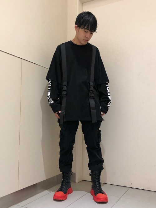 LHP LUCUA大阪Toshiki Masuda さんのTシャツ/カットソー「DankeSchon/ダンケシェーン/ニューストラップロングスリーブTシャツ(DANKE SCHON|ダンケシェーン)」を使ったコーディネート