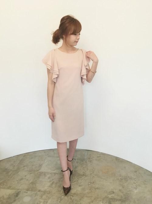 結婚式 春 ピンク コーデ