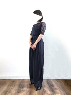 1f5f3a0336423 レースブラウス ベアトップジャンプスーツのセットアップ結婚式パンツドレス・お呼ばれパーティードレスを使ったコーディネート一覧 - WEAR