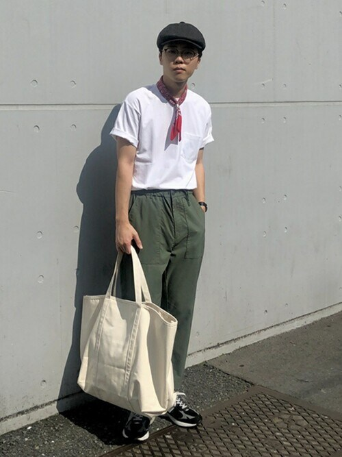 山本さんの「SHIPS any: USAコットン ベーシック ポケット Tシャツ◆(SHIPS any)」を使ったコーディネート