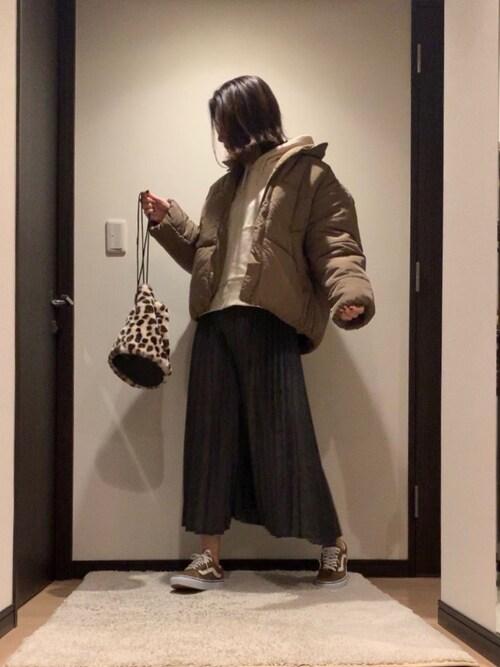 RUIさんのデニムスカート「【新色】【WEB限定】デニムプリーツ�A(Ne-net ネネット)」を使ったコーディネート