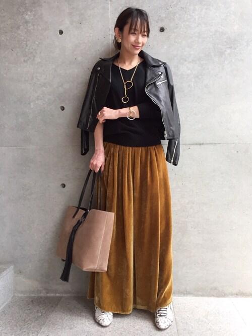 aquagirl 青山kanaさんのニット/セーター「◆カシミヤ100%ニット(aquagirl アクアガール)」を使ったコーディネート