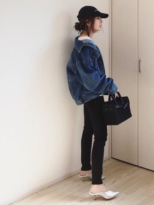 mayumiさんのデニムジャケット「KIL(キル) ビックシルエットGジャン(CANAL JEAN キャナルジーン)」を使ったコーディネート