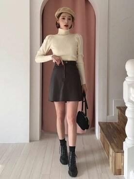 レザー ミニ スカート
