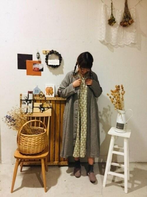 SM2 keittio 小田原ダイナシティaoki(∵)さんのワンピース「壁紙花柄ワンピース(Samansa Mos2 サマンサ モスモス)」を使ったコーディネート