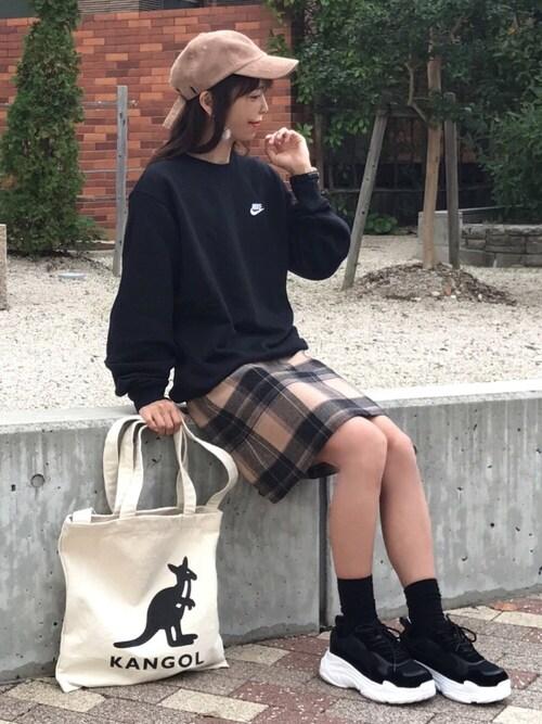 satopoo さんのトートバッグ「【KANGOL/カンゴール】 キャンバス トート バッグ 「2WAY」(KANGOL|カンゴール)」を使ったコーディネート