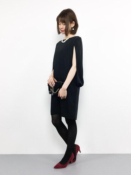 ZOZOTOWNmiyaseさんのドレス「B:MING by BEAMS / カバースリーブワンピース(B:MING by BEAMS|ビーミングバイビームス)」を使ったコーディネート