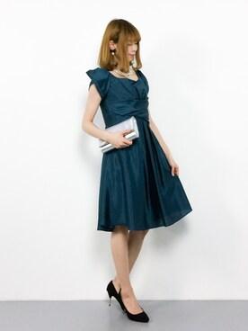 2739cbe87c084 ZOZOTOWN|miyaseさんのドレス「スタイル美人ワンピースドレス(RUIRUE BOUTIQUE|ルイ