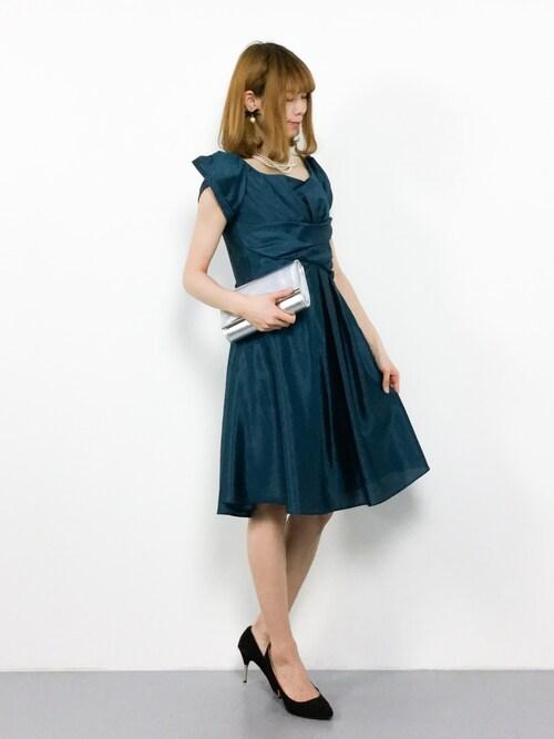 ZOZOTOWNmiyaseさんのドレス「スタイル美人ワンピースドレス/結婚式・お呼ばれ対応フォーマルパーティードレス(RUIRUE BOUTIQUE|ルイルエブティック)」を使ったコーディネート