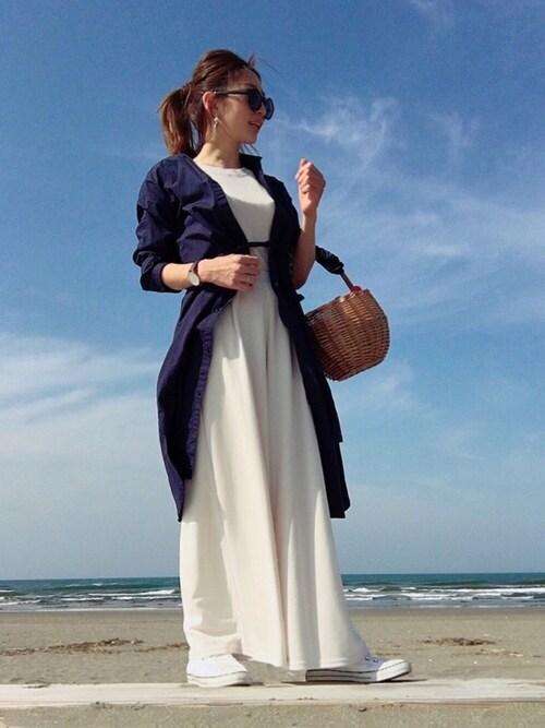 keiさんのパンツ「ポンチ素材 ロングワイドパンツ(Pierrot|ピエロ)」を使ったコーディネート