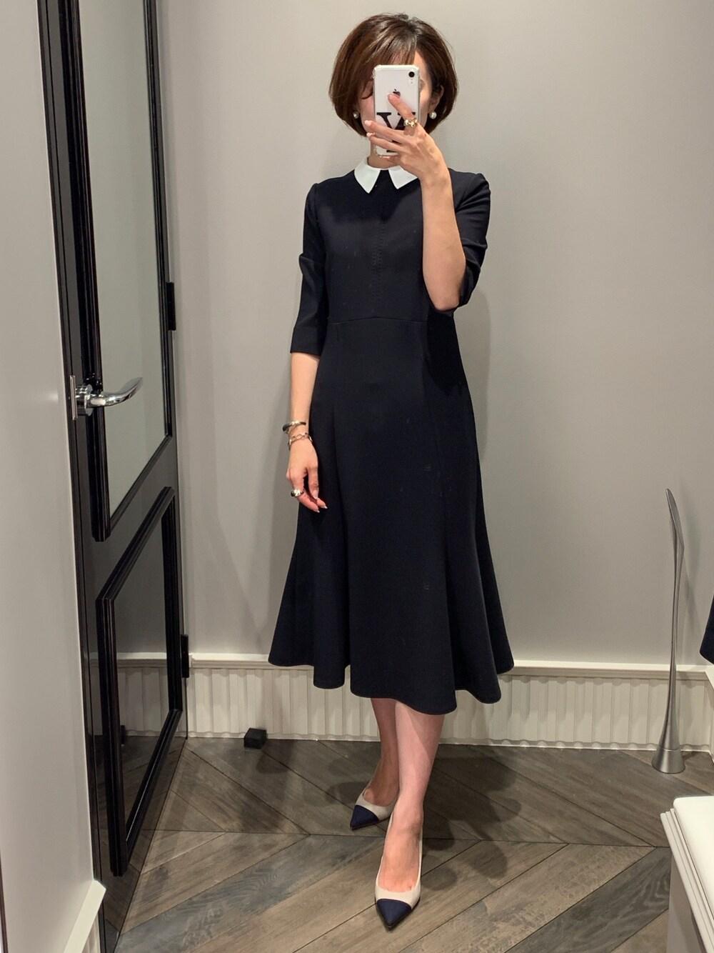 セルフォード ファッション ママ 受験 私立 ネイビー 送迎