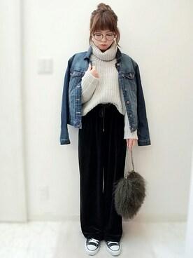 maamin♡さんの「ファーチェーンバッグ(TODAYFUL トゥデイフル)」を使ったコーディネート