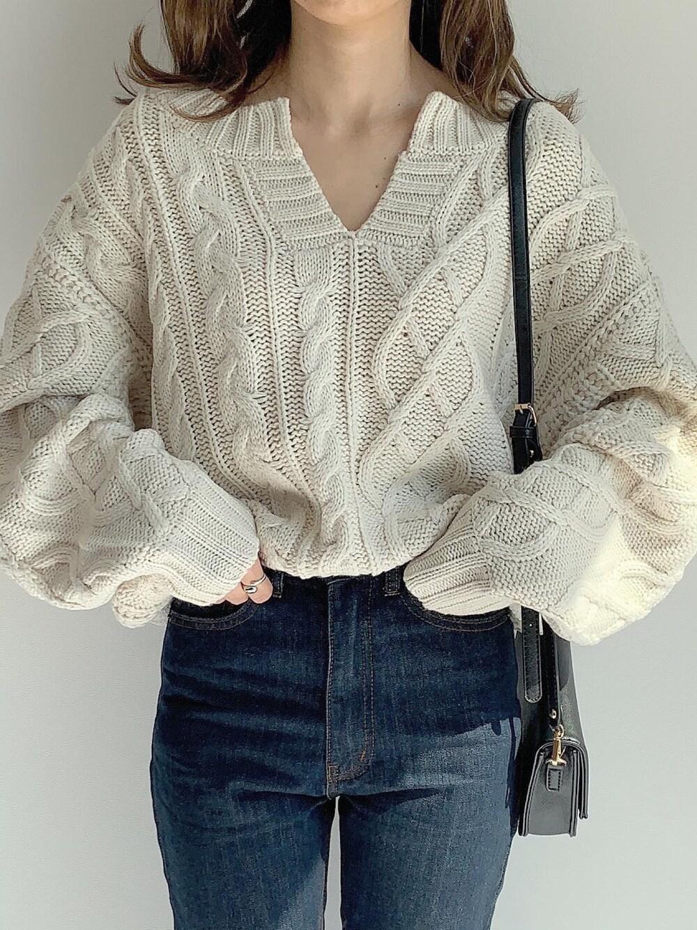 10月ママコーデ 服装 秋 ファッション ニット