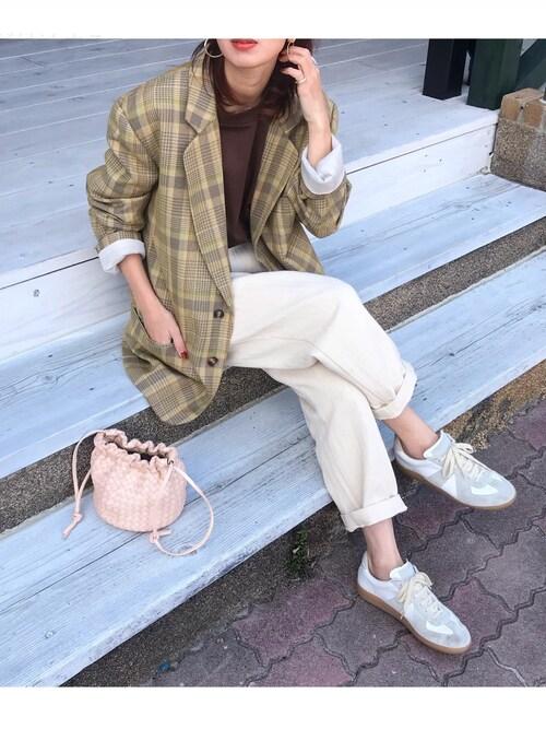 Kumika☆さんの「チェックオーバージャケット(TODAYFUL)」を使ったコーディネート