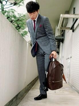 スーツに合うリュック・コーデ・ブランド 就活/海外/おしゃれ