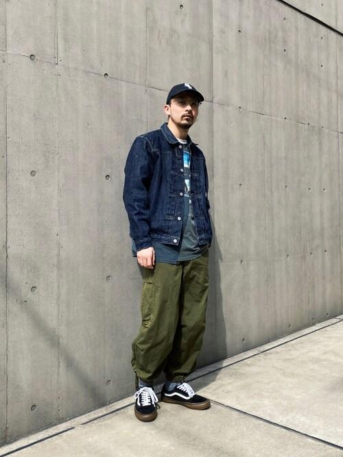 Tomoya Miuraさんの「Schott/ショット/PERFECTO 1st DENIM JACKET/パーフェクト デニムジャケット(schott)」を使ったコーディネート