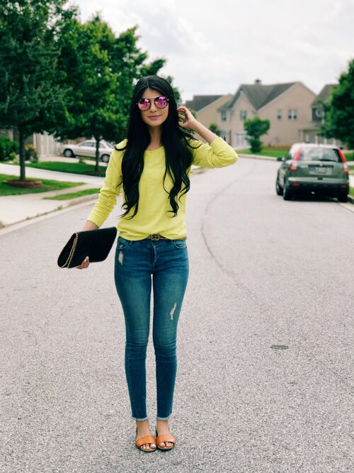Maryam Shah is wearing Anthropologie