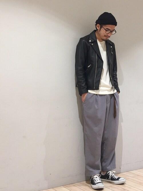 kokiさんの「ダブルレザーライダース(JUNRed)」を使ったコーディネート
