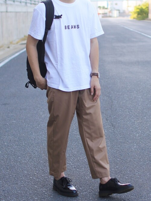 しんごさんのTシャツ/カットソー「BEAMS / BEAMS ロゴ Tシャツ(BEAMS ビームス)」を使ったコーディネート
