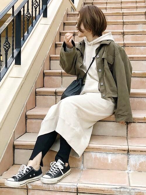 𝕂𝔼𝕀𝕂𝕆??娠úさんのミリタリージャケット「ワイドスリーブジャケット(TODAYFUL|トゥデイフル)」を使ったコーディネート