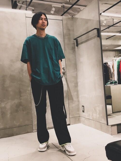 大谷和宏さんの「<Mr.Completely> SSL POCKET TEE/Tシャツ ◆(MR.COMPLETELY)」を使ったコーディネート