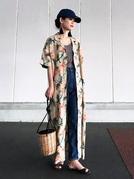 yukiさんの「2WAYシャツワンピース/751343(JEANASIS|ジーナシス)」を使ったコーディネート