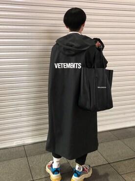 Vetements Vetements Pvc Coated Printed Shell Hooded Raincoat