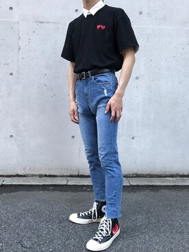 b50f5bade575 Outfit ideas - How to wear Women s Comme Des Garcons Play X Converse ...