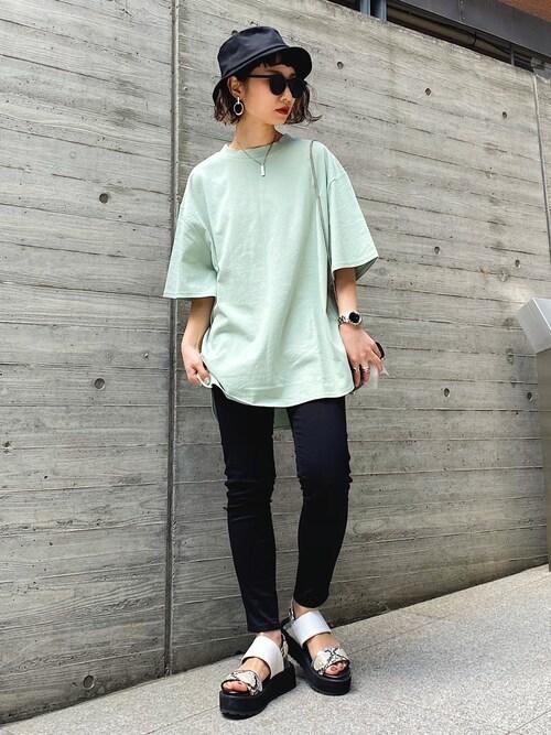 クリアグリーン BIGシルエットTシャツ