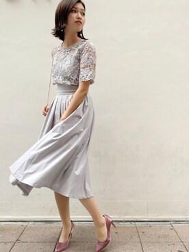 24db6b787ec44 LAGUNAMOON|anriさんのドレス「LADYオーバーレースギャザードレス(LAGUNAMOON|ラグナ