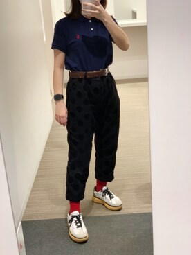 9be3db7843ae02 ▻rie◅さんの「クラシック フィット メッシュ ポロシャツ(POLO RALPH LAUREN|ポロ