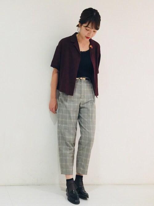 narumiさんのソックス/靴下「靴下屋/ シアーリブショートソックス(靴下屋 クツシタヤ)」を使ったコーディネート
