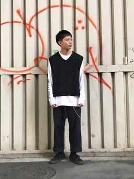 WHO\u0027S WHO gallery 京都寺町店|kento さんの「メンズニットベスト(WHO\u0027S