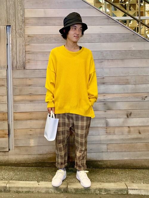 B'2nd 神南yamamotoさんのニット/セーター「LUSOR(ルーソル)ダメージニット(LUSOR|ルーソル)」を使ったコーディネート