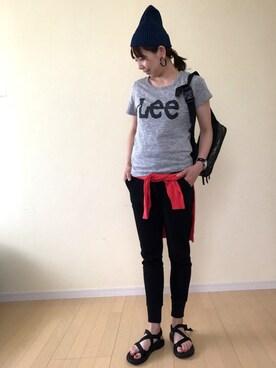 EMI さんの「【LEE】ロゴTシャツ(Lee|リー)」