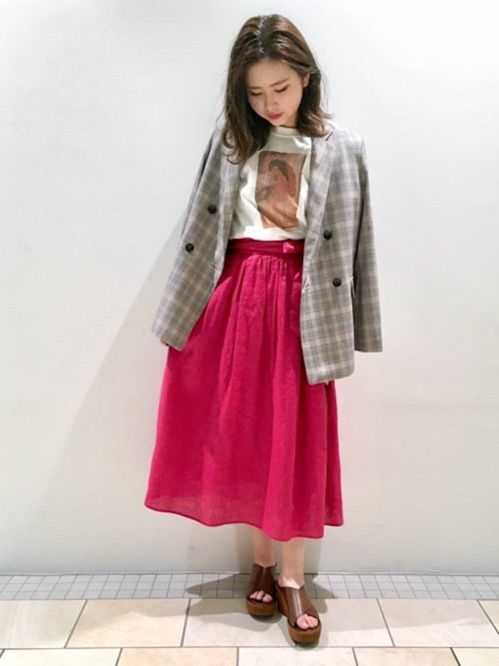 ナノユニバース STORY掲載 スカート 通販
