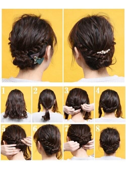 結婚式 髪型