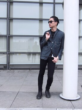 Outfit ideas for men , How to wear 【Dr.Martens】JADON 8 EYE