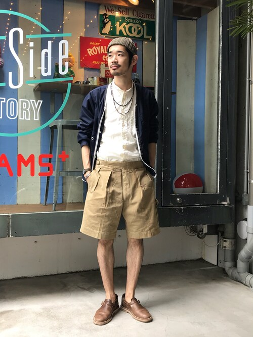 sakuma さんの「BEAMS PLUS / コットンワッチキャップ(BEAMS PLUS)」を使ったコーディネート