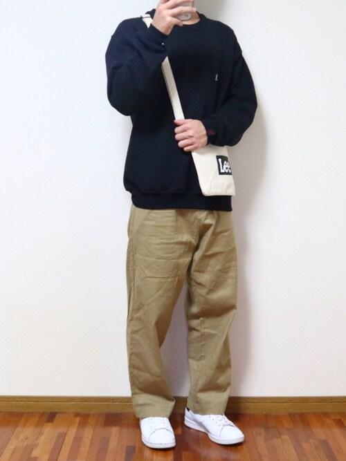 りくさんの「LINEN×COTTONストレッチタックワイドパンツ(EMMA CLOTHES)」を使ったコーディネート