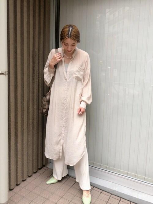 ヤマサキ サオリさんのキャミソール「【BASERANGE/ベースレンジ】exclusive cottonrib NidaDress:キャミソール◆(BASErange|ベースレンジ)」を使ったコーディネート