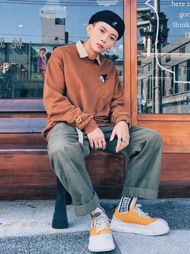 Chenさんの(KANGOL|カンゴール)を使ったコーディネート