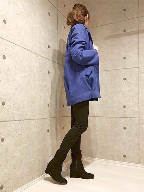本社tsunmikaさんのブーツ「シャーリング ショートブーツ 【クロールバリエ/COULEURVARIE】(COULEURVARIE|クロールバリエ)」を使ったコーディネート