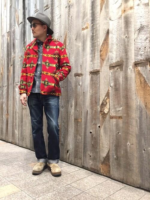 Schott Kobematsuuraさんのシャツ/ブラウス「Schott/ショット/CHAMBRAY WORK SHIRTS/シャンブレー ワーク シャツ(schott ショット)」を使ったコーディネート